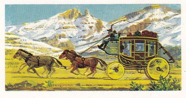 Trade Card Brooke Bond Transport Through the Ages No 06 Stage Coach