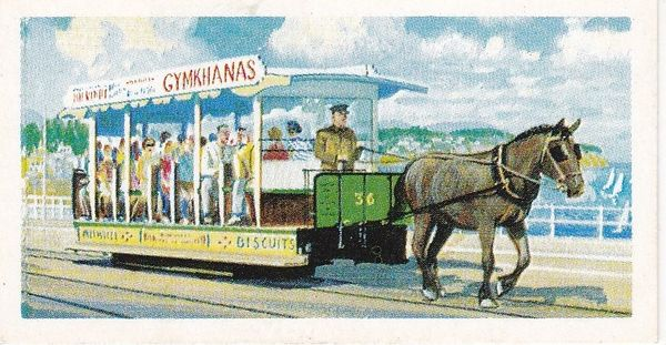 Trade Card Brooke Bond Transport Through the Ages No 07 Horse Tram