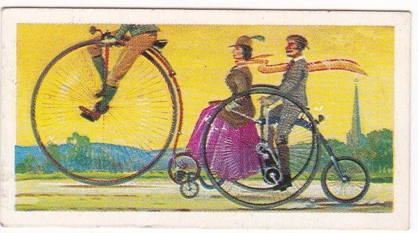 Trade Card Brooke Bond Transport Through the Ages No 08 The Bicycle