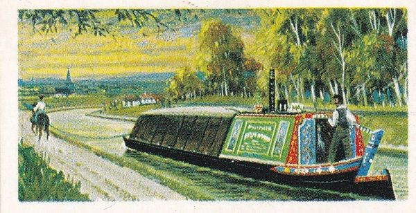 Trade Card Brooke Bond Transport Through the Ages No 11 Horse Barge