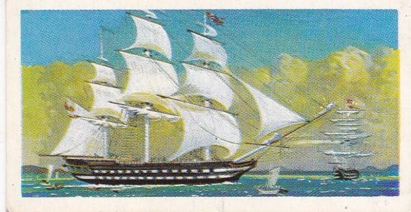 Trade Card Brooke Bond Transport Through the Ages No 12 East Indiaman