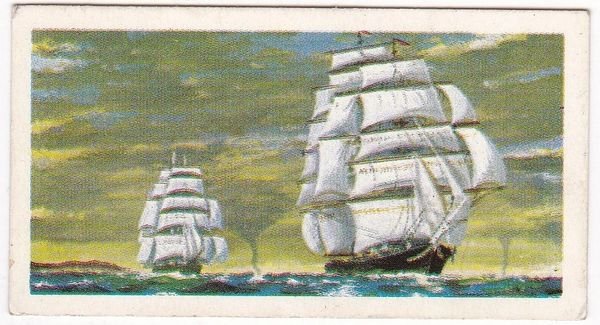 Trade Card Brooke Bond Transport Through the Ages No 13 Tea Clipper