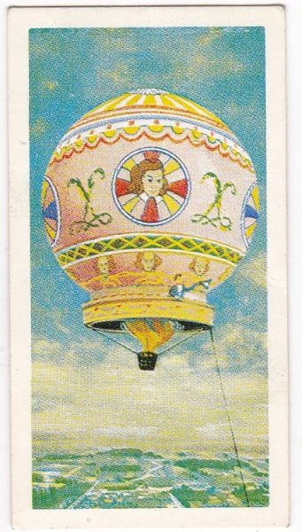 Trade Card Brooke Bond Transport Through the Ages No 14 Hot Air Balloon