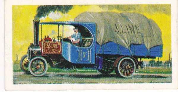 Trade Card Brooke Bond Transport Through the Ages No 17 Steam Wagon