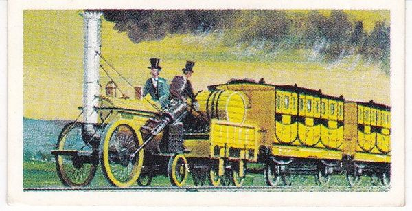 Trade Card Brooke Bond Transport Through the Ages No 18 Stephenson's Rocket