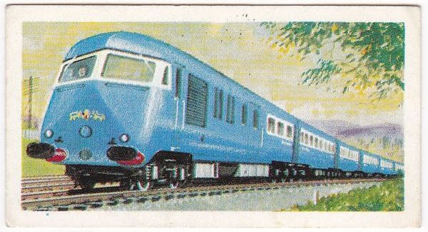 Trade Card Brooke Bond Transport Through the Ages No 20 Diesel Locomotive