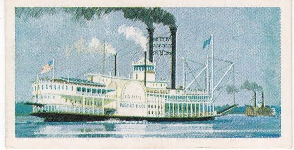 Trade Card Brooke Bond Transport Through the Ages No 23 Mississippi River Steamer