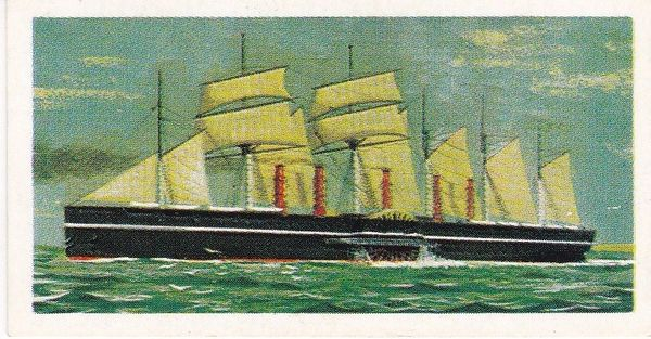 Trade Card Brooke Bond Transport Through the Ages No 24 The Great Eastern