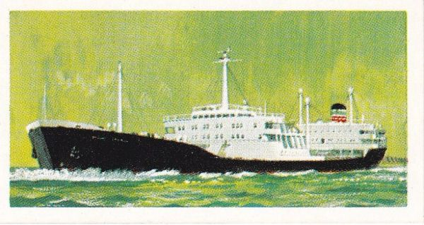 Trade Card Brooke Bond Transport Through the Ages No 27 Oil Tanker