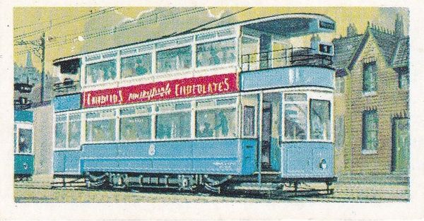 Trade Card Brooke Bond Transport Through the Ages No 28 Electric Tram