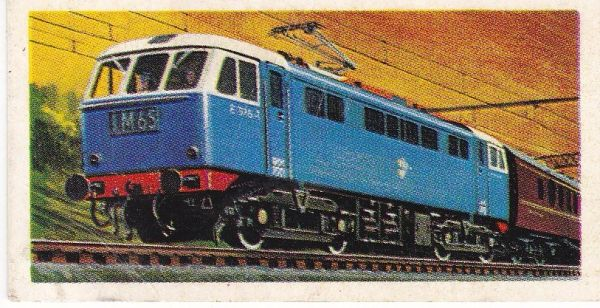 Trade Card Brooke Bond Transport Through the Ages No 29 Electric Locomotive