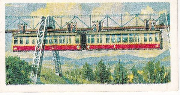Trade Card Brooke Bond Transport Through the Ages No 30 Monorail