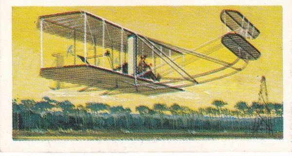 Trade Card Brooke Bond Transport Through the Ages No 35 The Wright Brothers Aeroplane