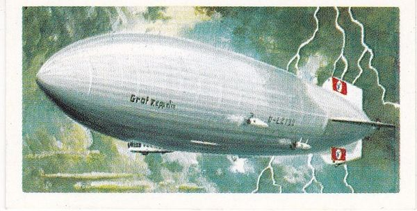 Trade Card Brooke Bond Transport Through the Ages No 36 Airship