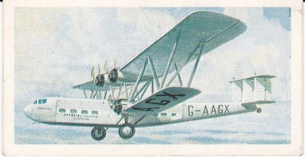 Trade Card Brooke Bond Transport Through the Ages No 37 Early Airliner