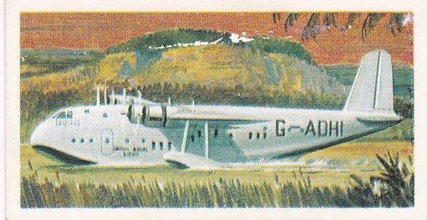 Trade Card Brooke Bond Transport Through the Ages No 38 Flying Boat