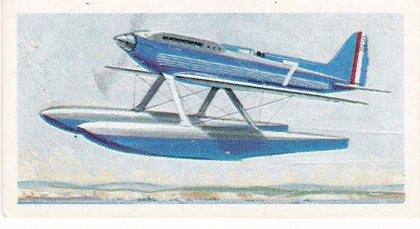 Trade Card Brooke Bond Transport Through the Ages No 39 Supermarine Schneider Trophy Plane