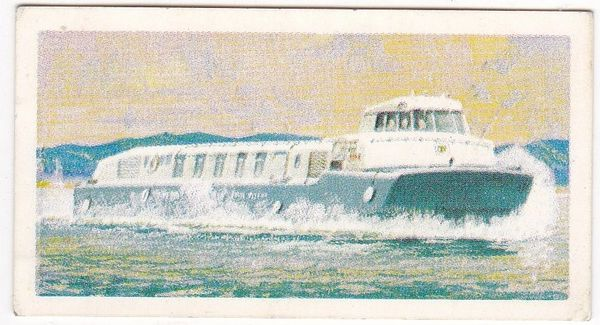 Trade Card Brooke Bond Transport Through the Ages No 47 Hovercraft