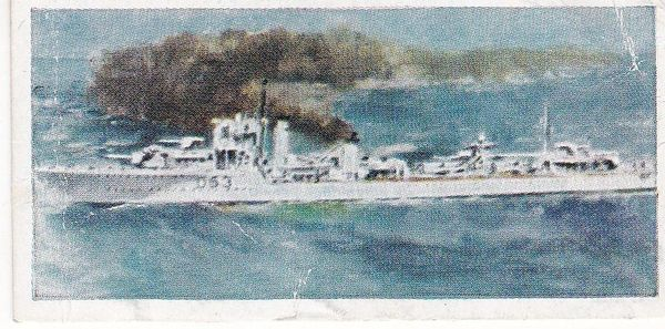 No. 15 H.M.S. Verity V and W Class Destroyer