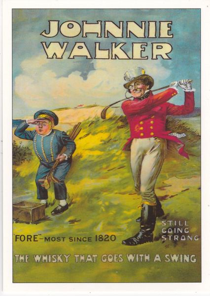 Golf Series (A) Advertising Johnny Walker Whisky ROGS 6 unposted