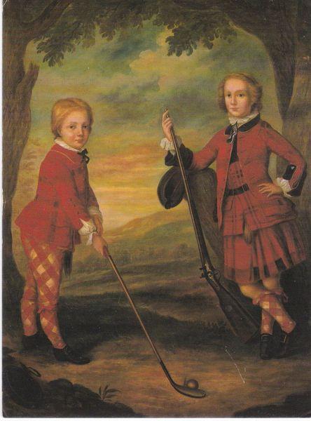 postcard THE MACDONALD CHILDREN Jeremiah Davison unposted Turnberry Hotel