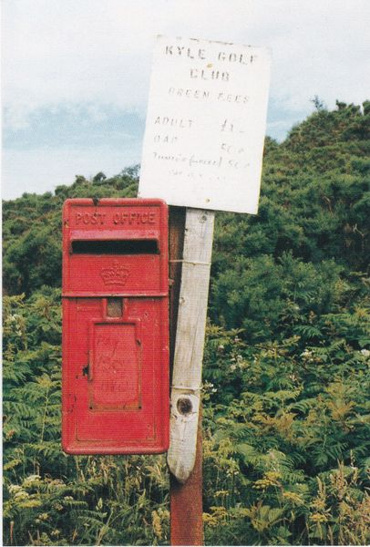 postcard British Postbox Series No. 29 at Kyle Golf Club unposted 1991
