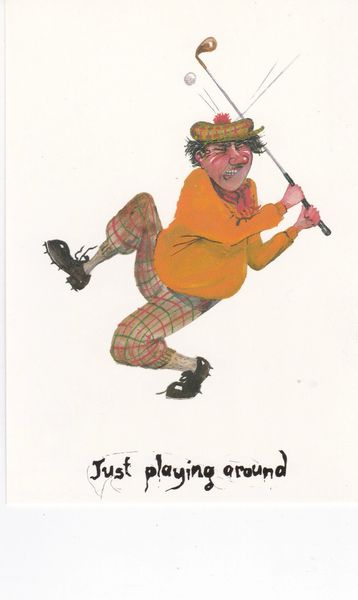 postcard comic JUST PLAYING AROUND Lincolnshire Seaside Humour No. 10 unposted