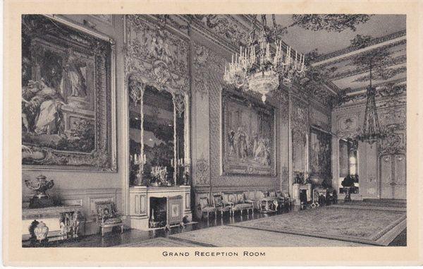 Berkshire WINDSOR CASTLE, GRAND RECEPTION ROOM Tuck's Post Card unused