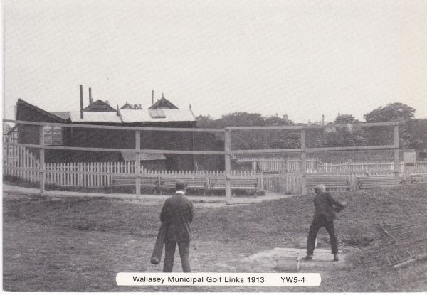 "postcard WALLASEY MUNICIPAL GOLF LINKS 1913 from ""Yesterday's Wirral"" unposted"