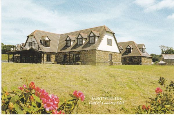 postcard Cornwall Lostwithiel Golf & Country Club, LOWER POLSCOE, unposted