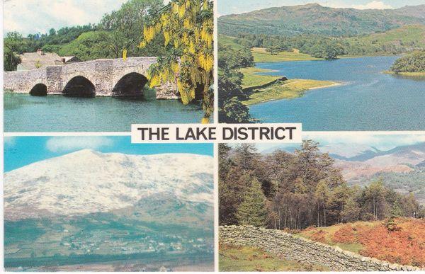 Post Card Cumbria Lake District THE LAKE DISTRICT 4 views