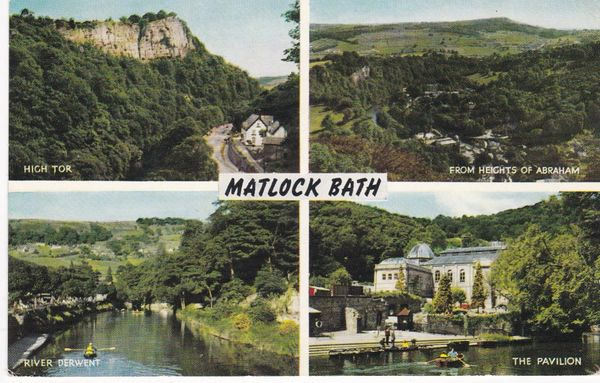 Post Card Derbyshire MATLOCK BATH Salmon