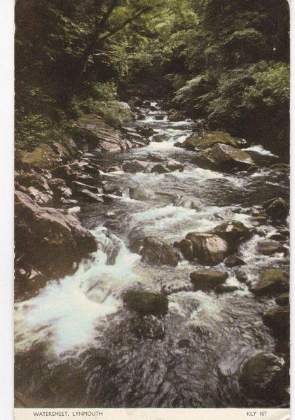 Post Card Devon Lynmouth WATERSMEET