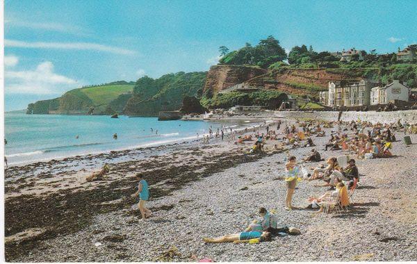 Post Card Devon Dawlish The Beach PT1632
