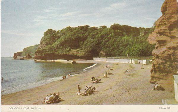 Post Card Devon Dawlish Coryton's Cove Jarrold Cotman-Color KDAW108