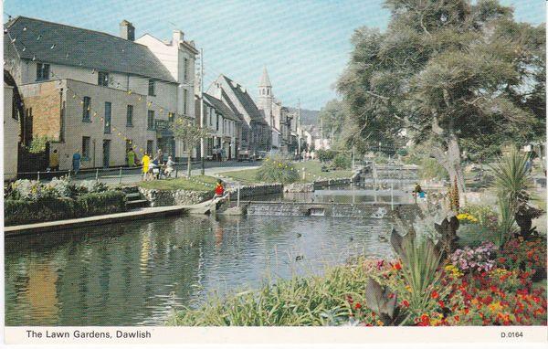 Post Card Devon Dawlish The Lawn Gardens Dennis Productions Photocolour D.0164