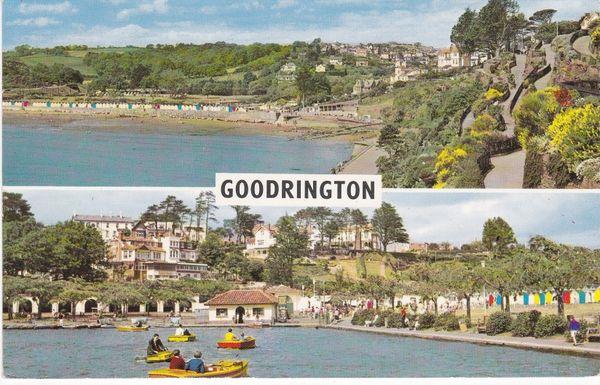 Post Card Devon GOODRINGTON 2 views PLC1993