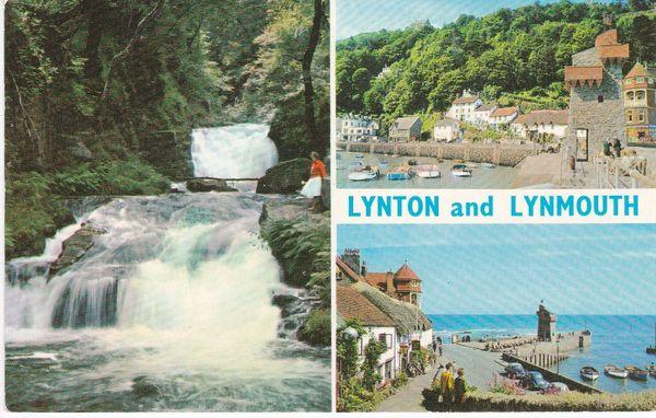 Post Card Devon LYNTON and LYNMOUTH 3 views