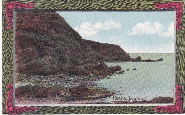 Post Card Devon LYNTON ROCKS Shurey's Publications Fine Art Postcard