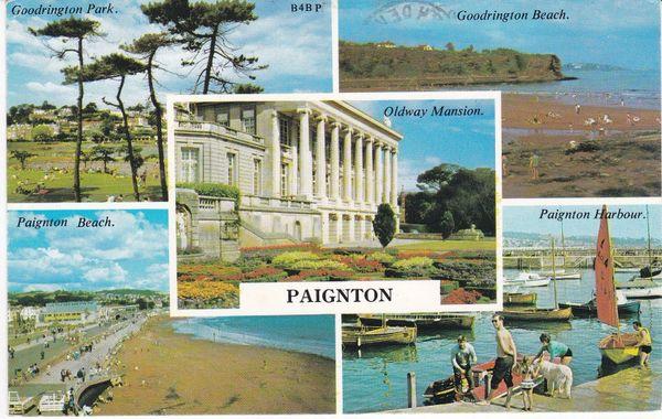 Post Card Devon PAIGNTON 5 views Harvey Barton