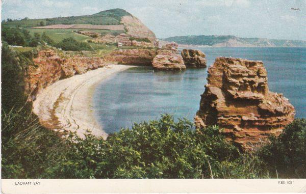 Post Card Devon LADRAM BAY Jarrold Cotman-Color KBS 105