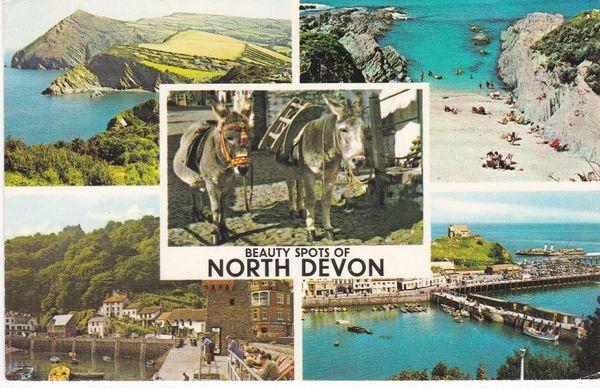 Post Card Devon Beauty Spots of NORTH DEVON PLC2095