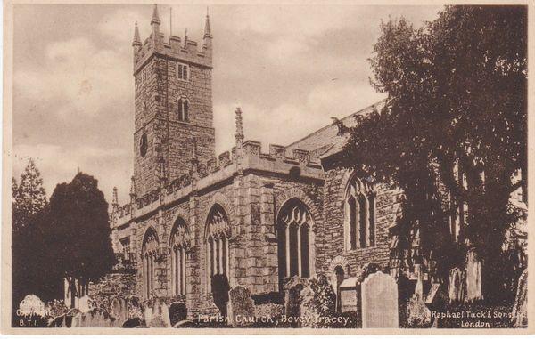 Post Card Devon BOVEY TRACY Parish Church Raphael Tuck & Sons Ltd.
