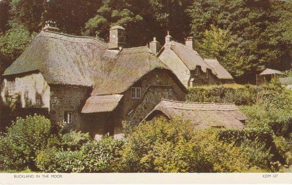 Post Card Devon Dartmoor BUCKLAND IN THE MOOR Jarrold Cotman-Color KDM 127