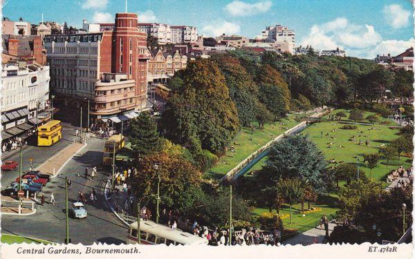 Postcard Dorset BOURNEMOUTH Central Gardens Valentine ET.4782R