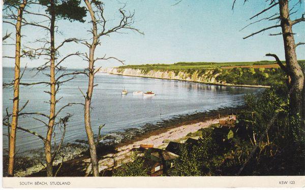 Postcard Dorset STUDLAND South Beach Jarrold otman-Color KSW 123
