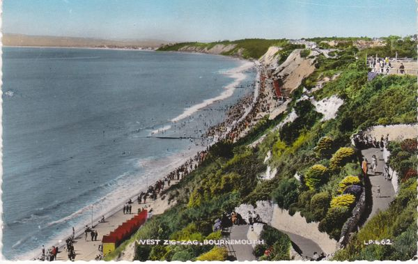 Postcard Dorset BOURNEMOUTH West Zig-Zag Lansdowne Publishing Co. Ltd. L.P.462