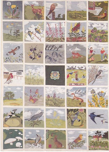 Postcard Dorset Dorchester CAME DOWN GOLF CLUB Centenary 1896 - 1996 Tapestry by the Lady Members