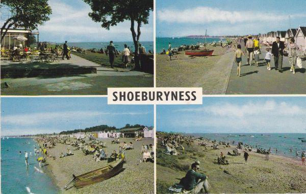 Post Card Essex SHOEBURYNESS 4 views PLC8245