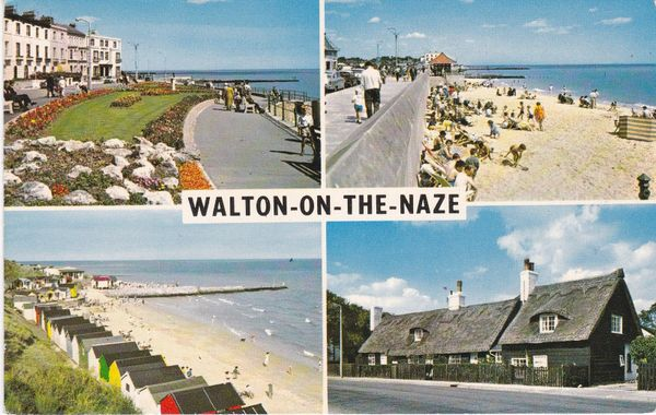 Post Card Essex WALTON-ON-THE-NAZE 4 views PLC9065